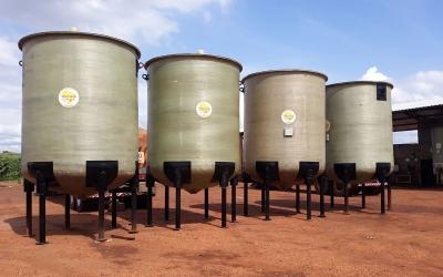 Reservatórios em fibra de vidro para o setor Sucroenergético